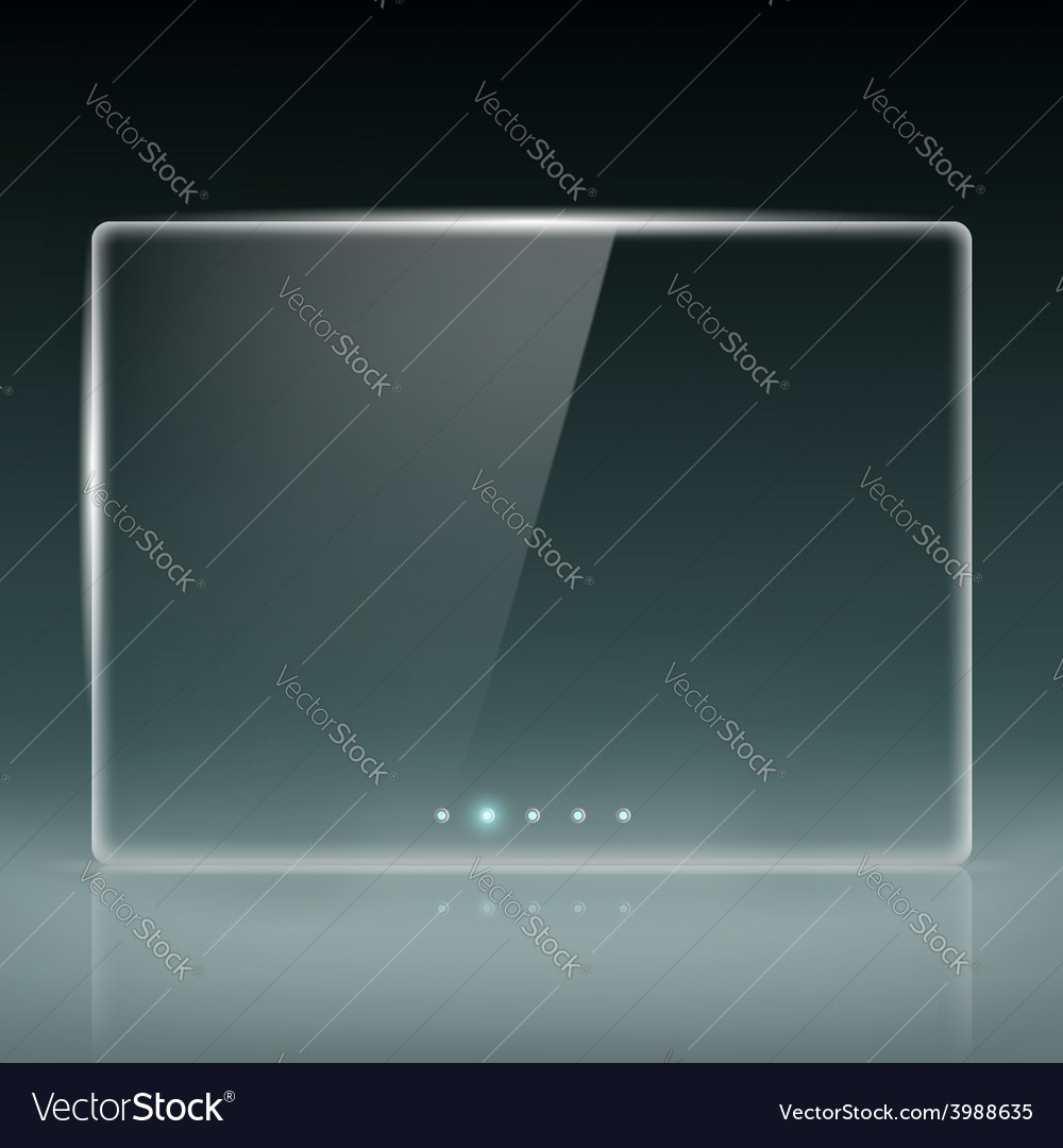 Transparent screen for slide show vector