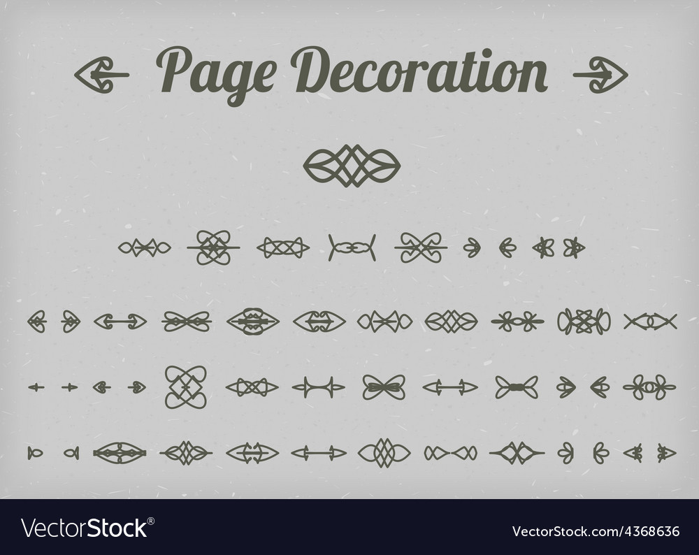 Calligraphic page decoration vector