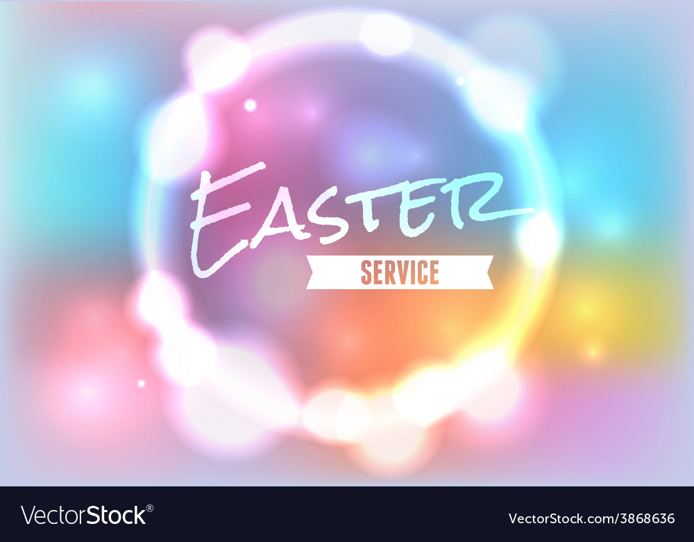 Easter service glow vector