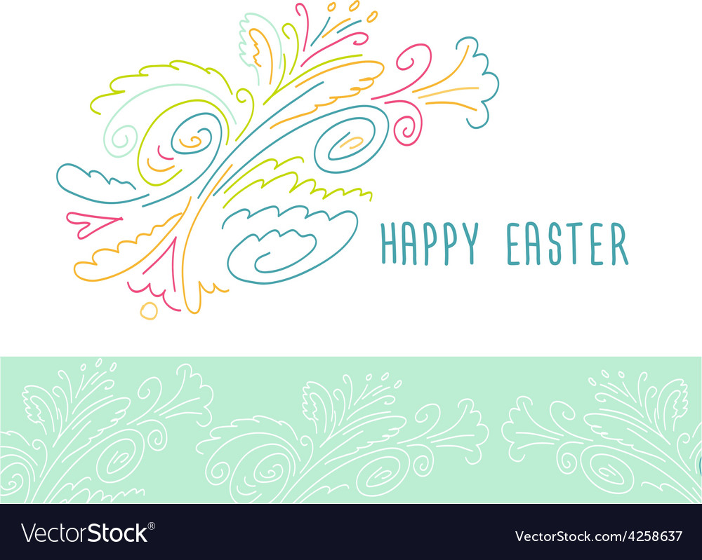 Happy easter easter floral pattern vector