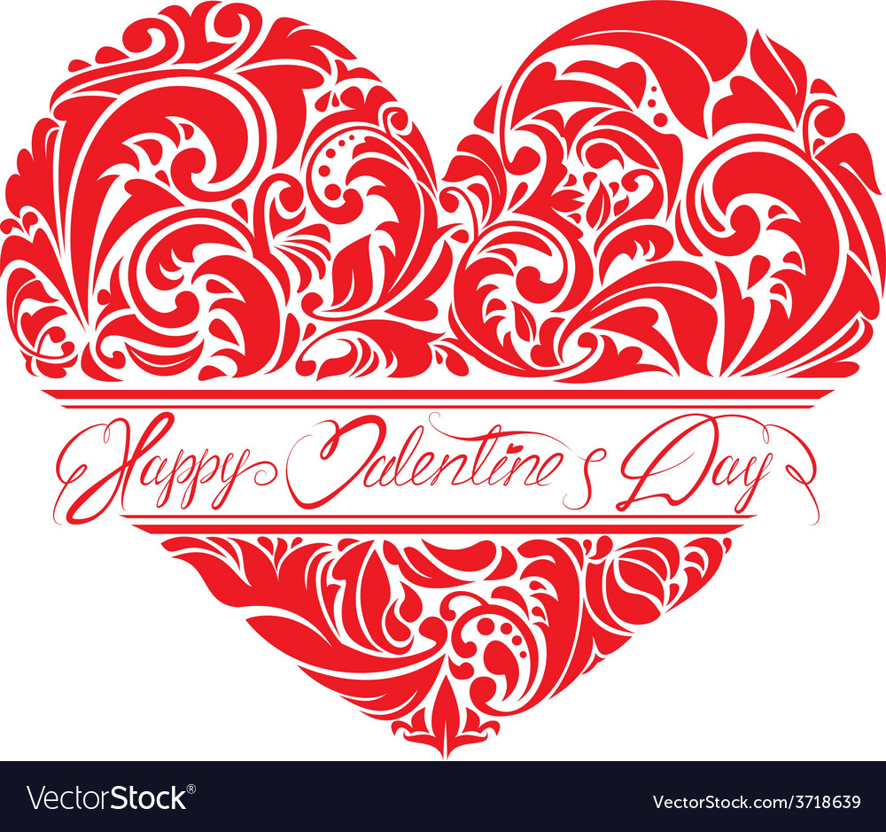 Heart ornament 1 380y vector
