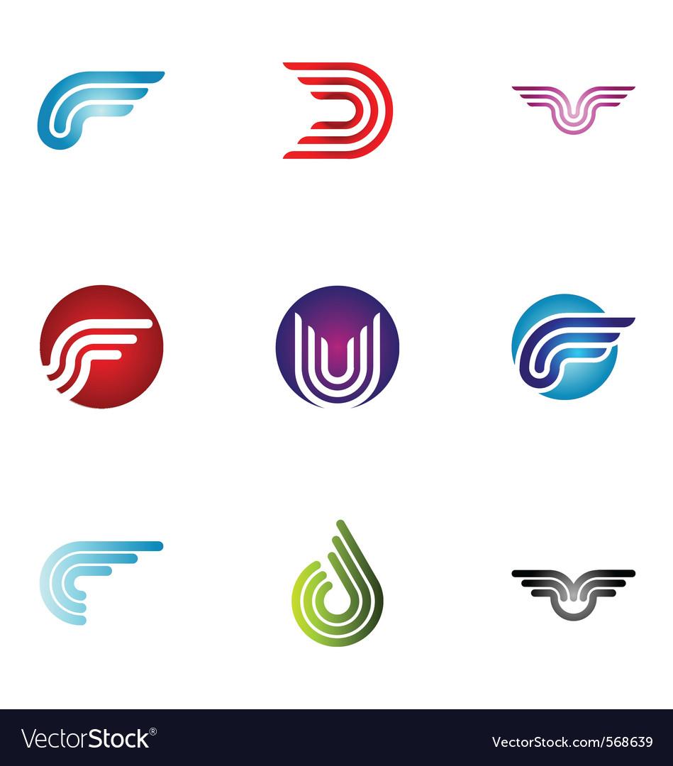 Logo design elements set 37 vector