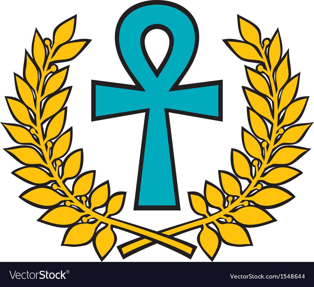 Egyptian cross vector