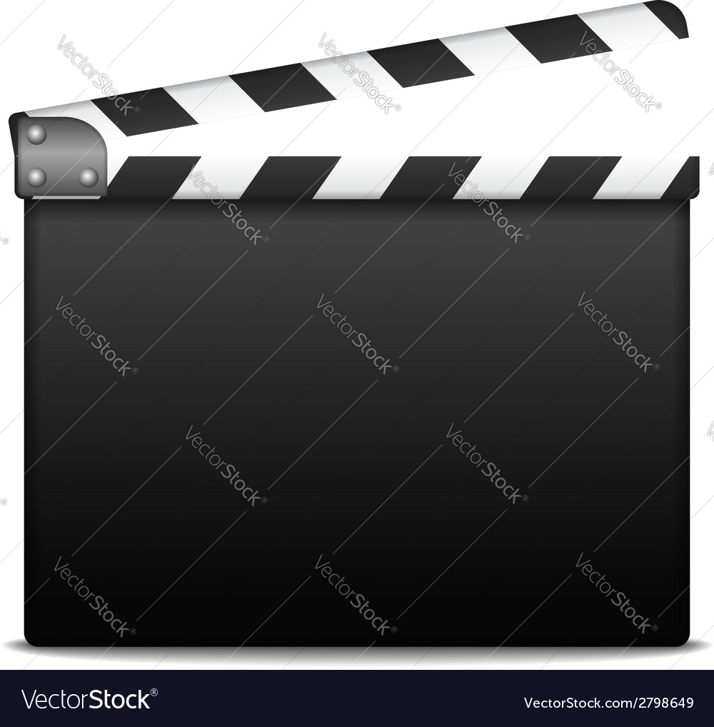 Clapper board vector