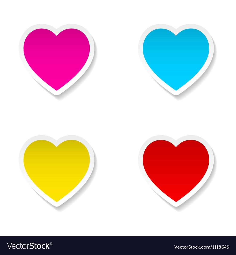 Heart frames vector