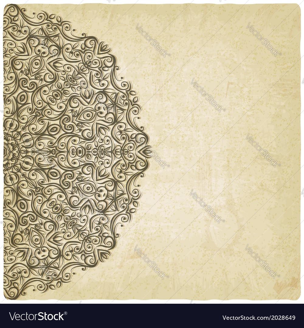 Ornate mehndi old background vector