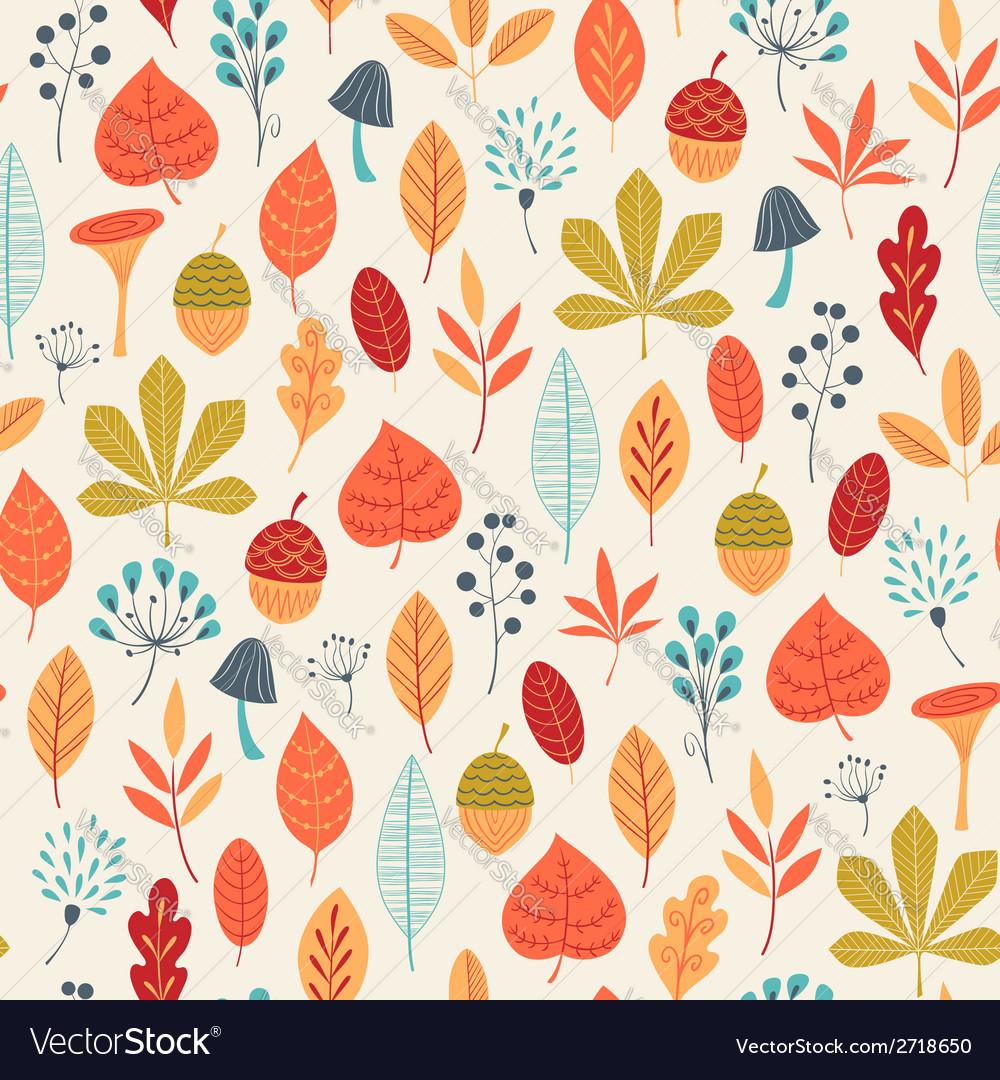 Autumn colors pattern vector