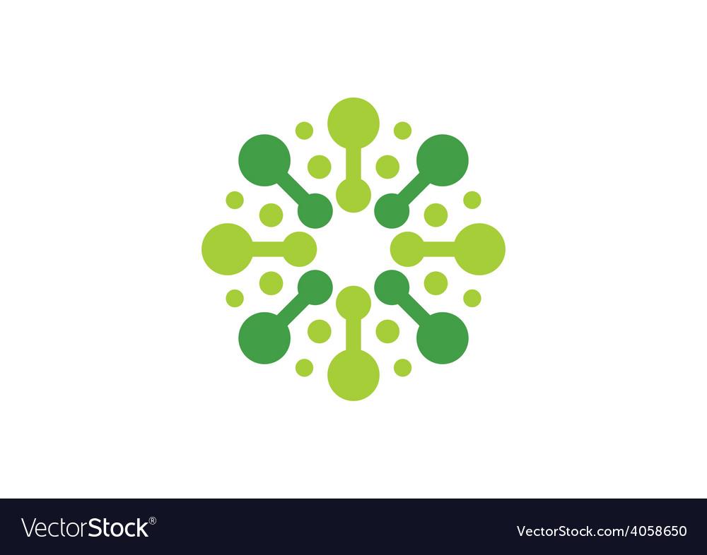 Circular round spark abstract logo vector