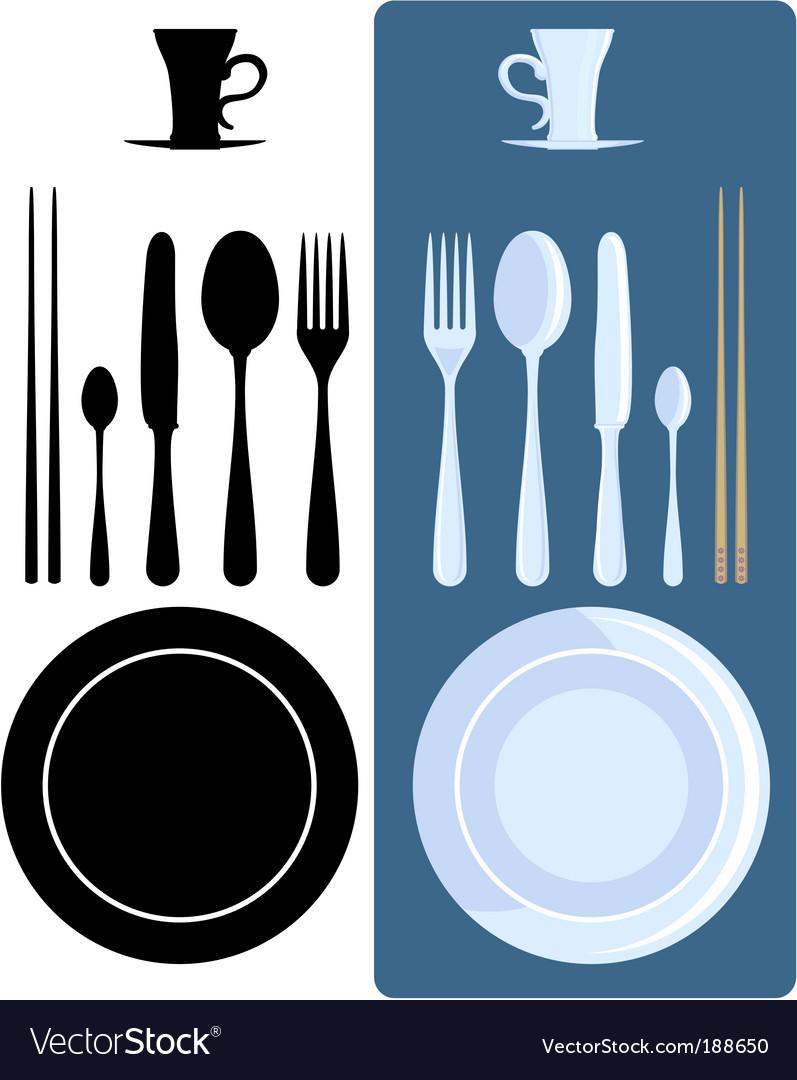 Cutlery icons vector