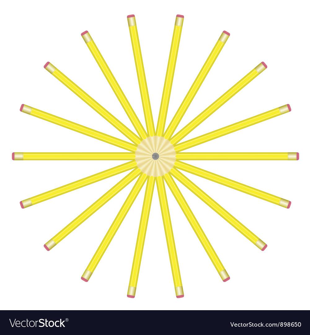 Lead pencils vector
