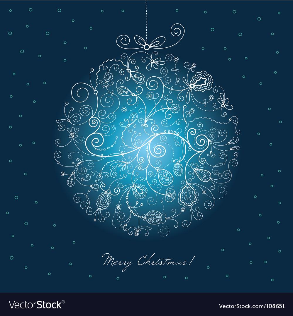 Christmas ball vector