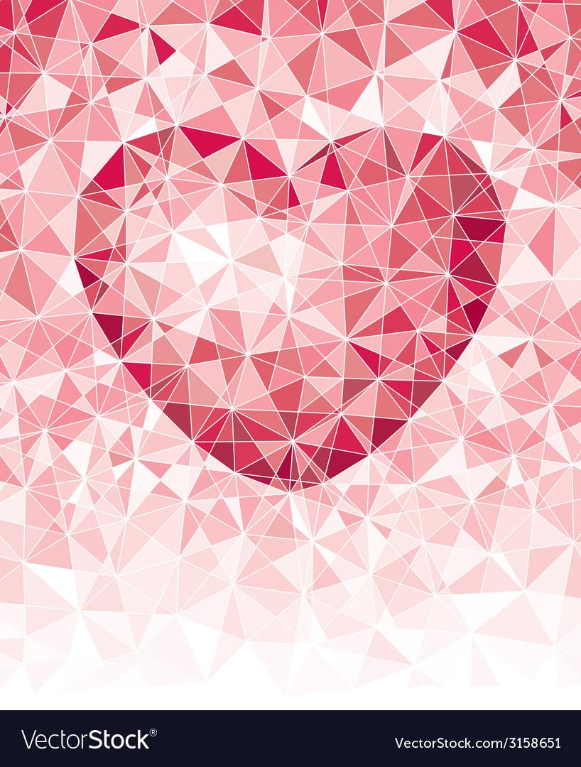 Mosaic heart vector