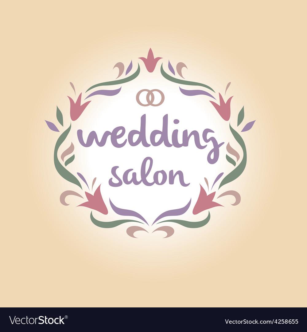 Wedding salon vintage logo vector