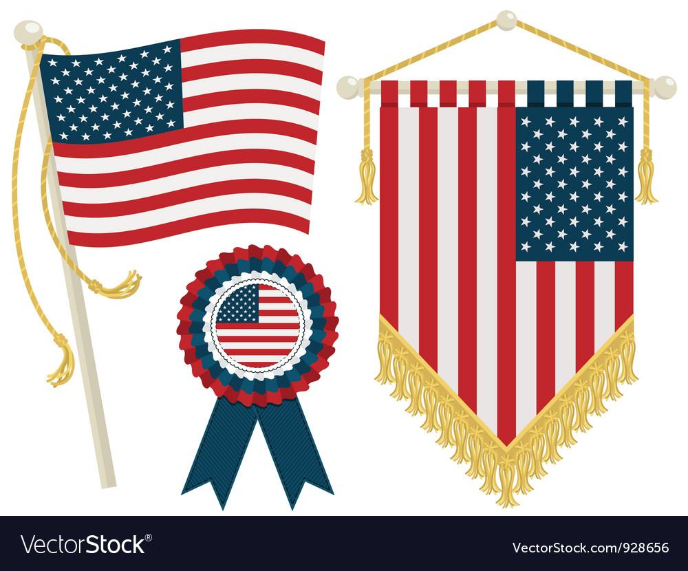 Usa flags vector