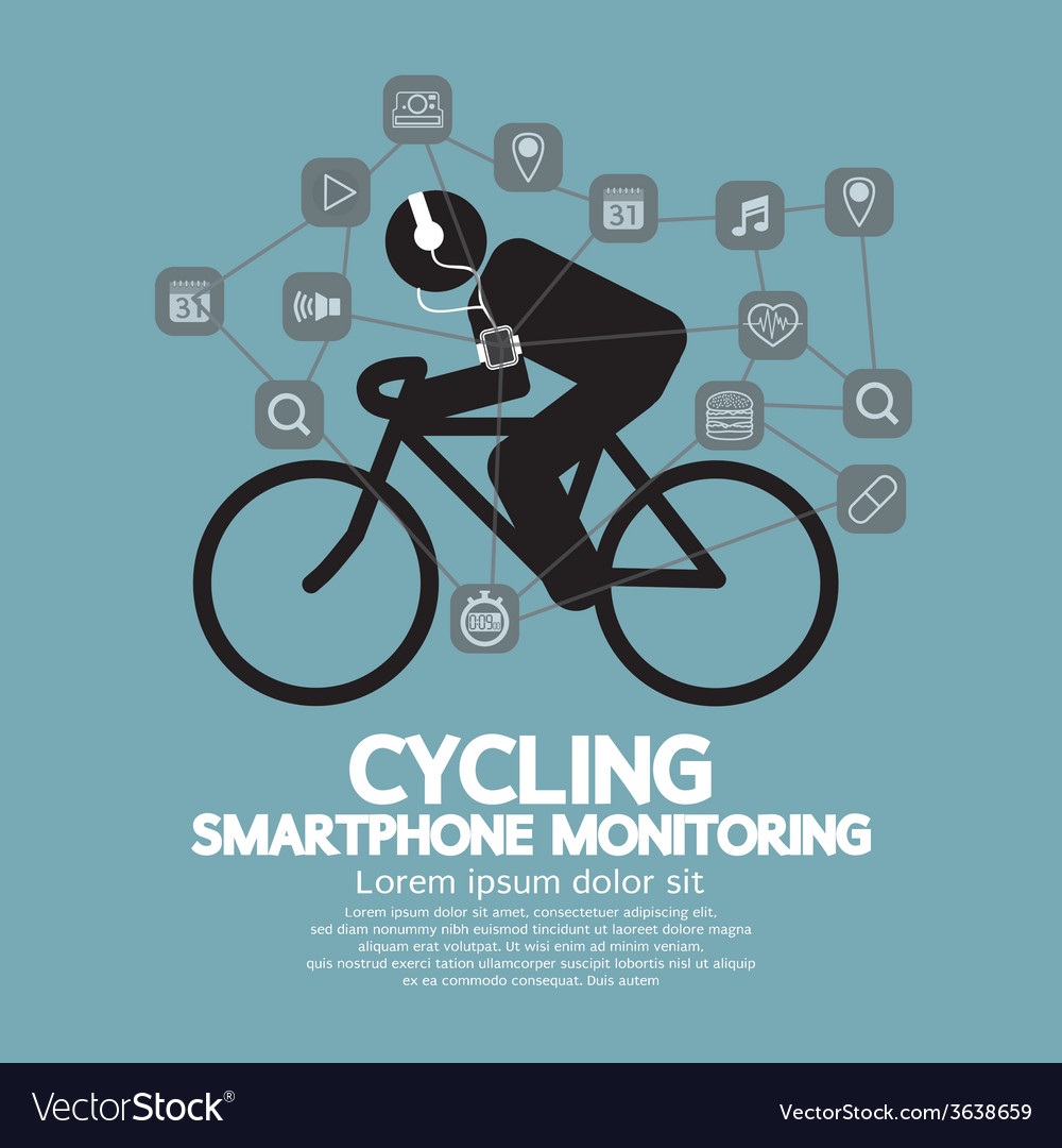 Health and fitness smartphone monitoring vector