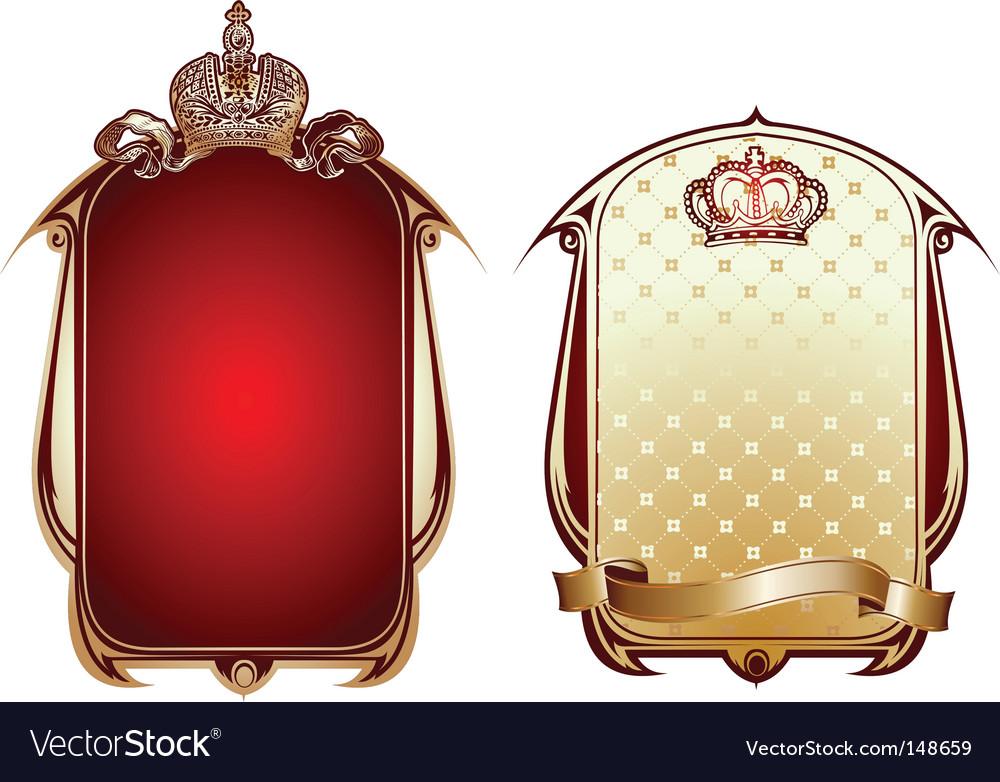 Royal banner vector