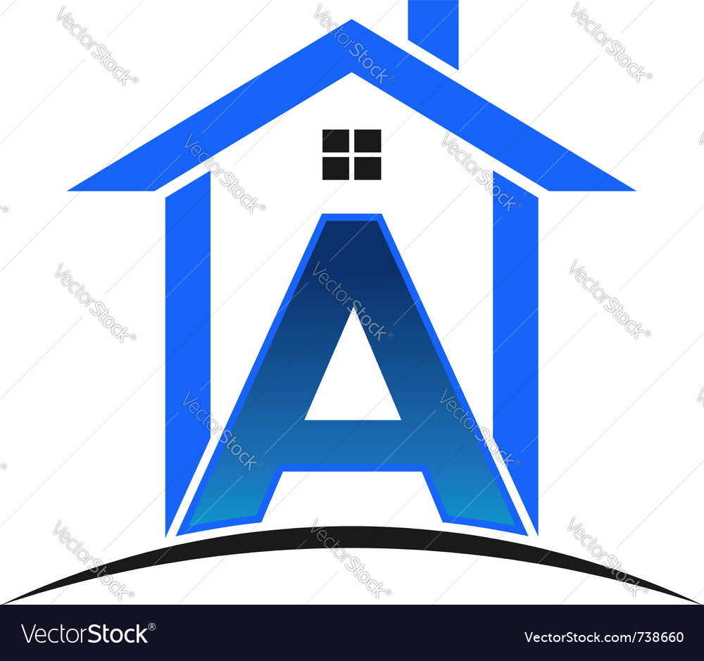 A letter house vector