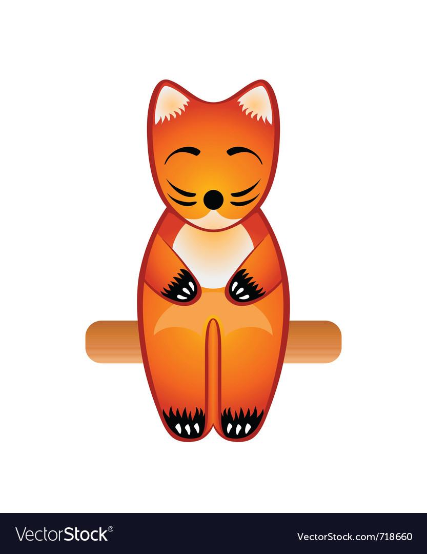 Fox toy vector