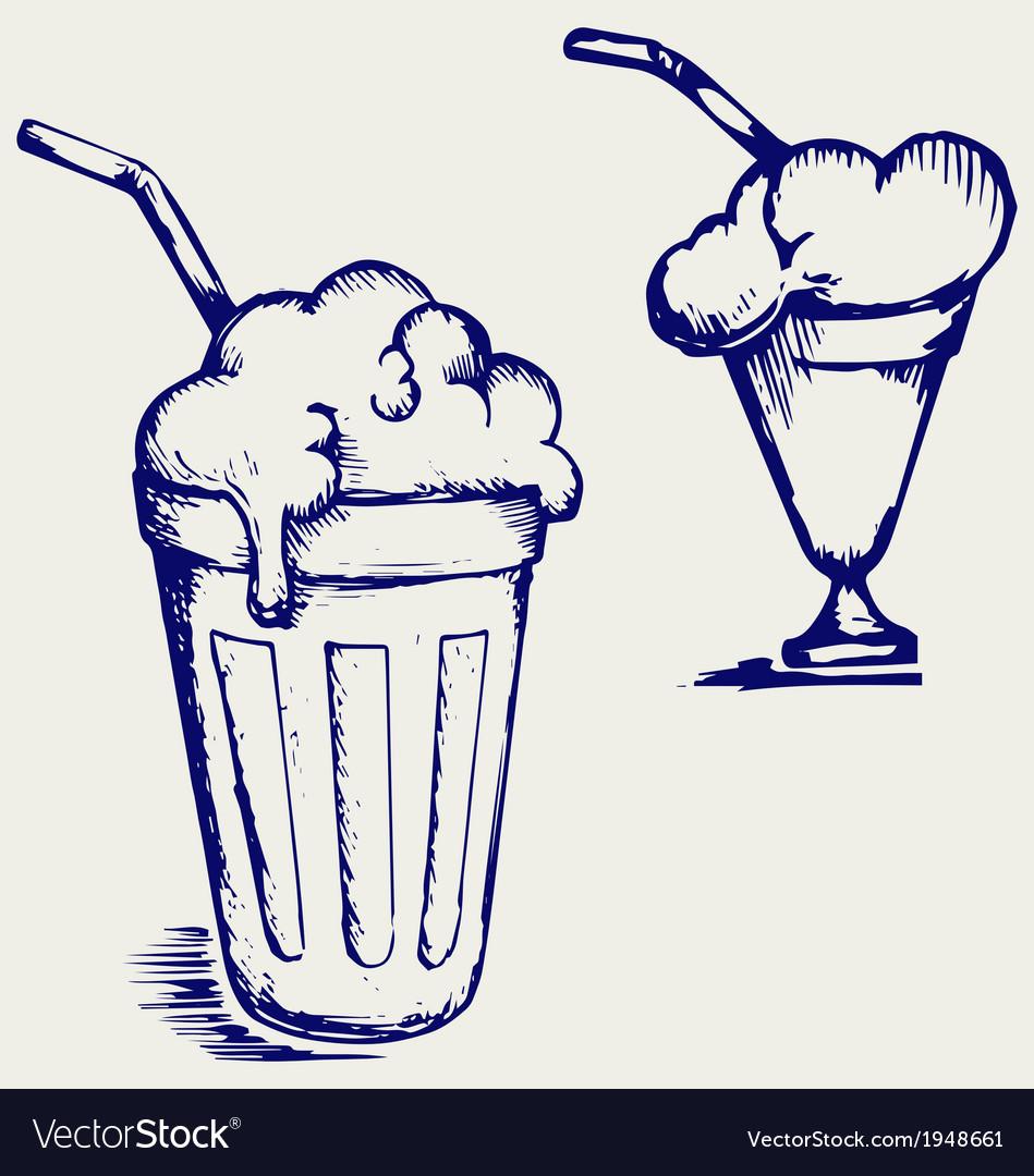 Milk shake vector
