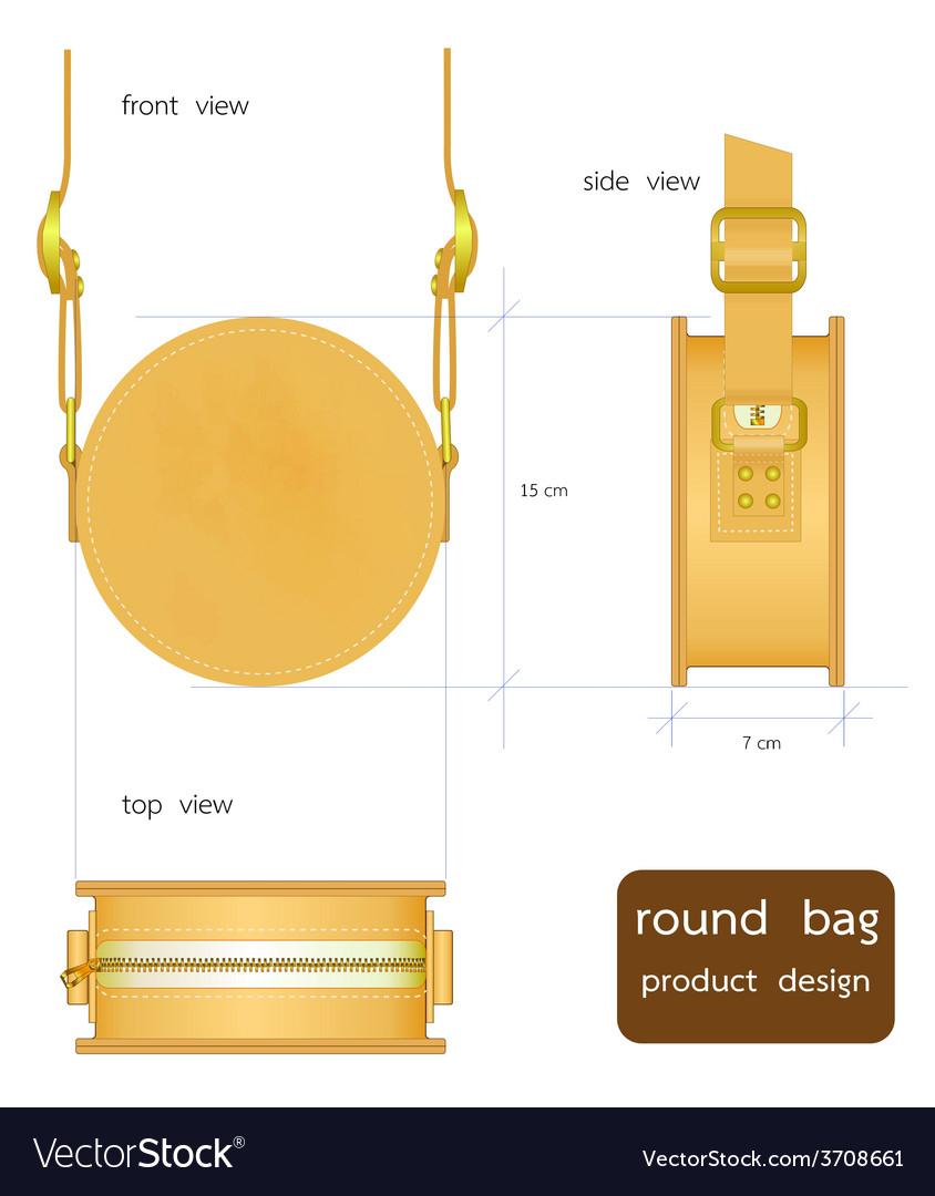 Round bag vector