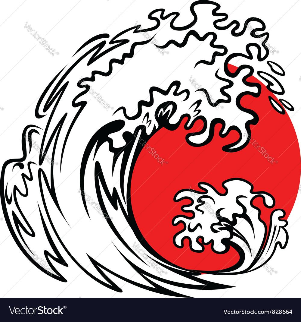 Tsunami wave vector