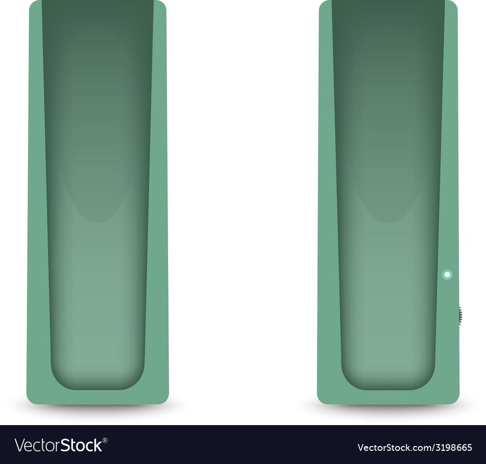 Green computer audio speakers vector