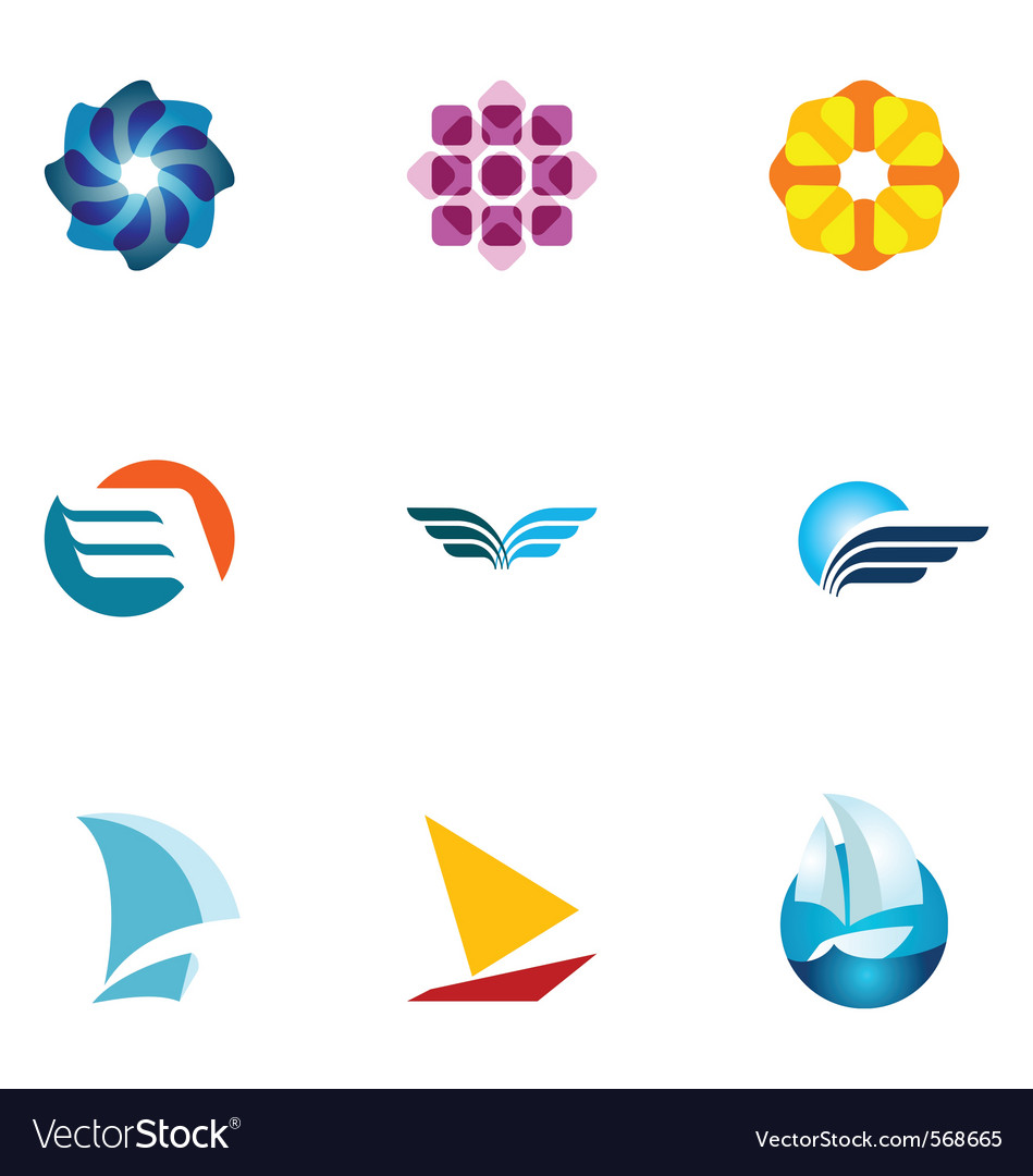 Logo design elements set 36 vector