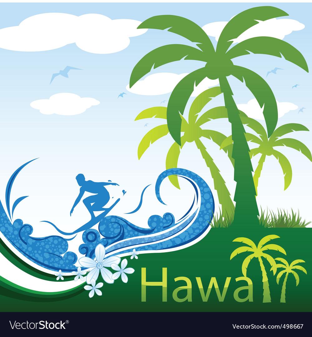 Hawaii poster vector