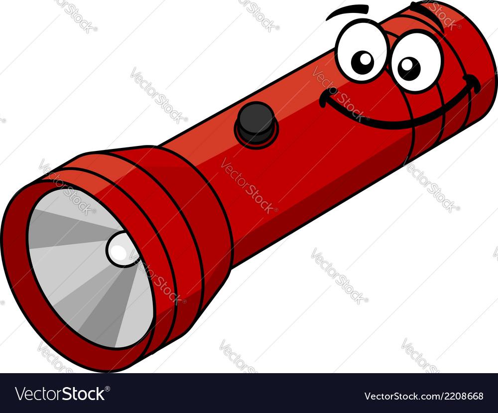 Cartoon flashlight vector