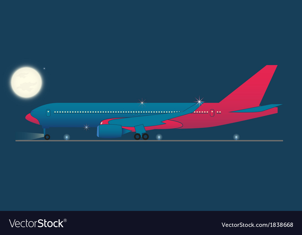 Red eye flight vector