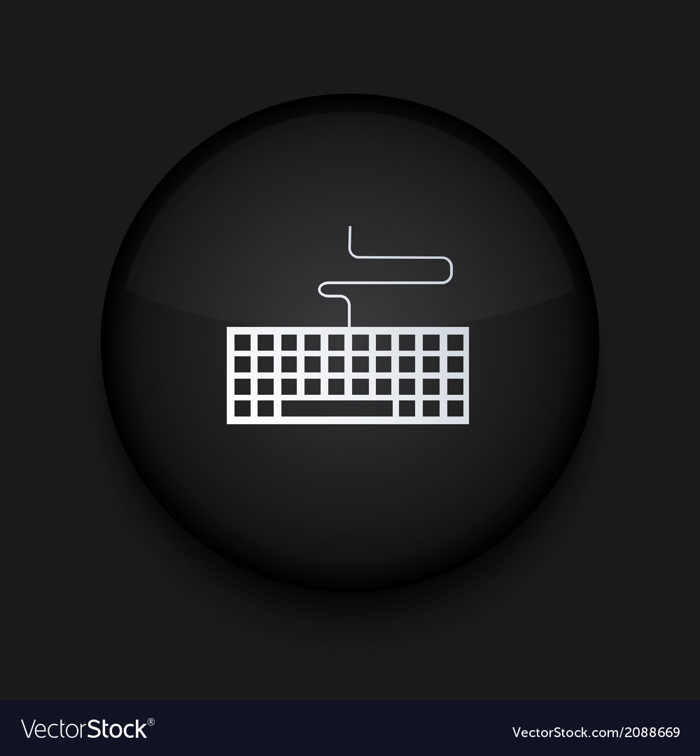 Modern black circle icon eps10 vector
