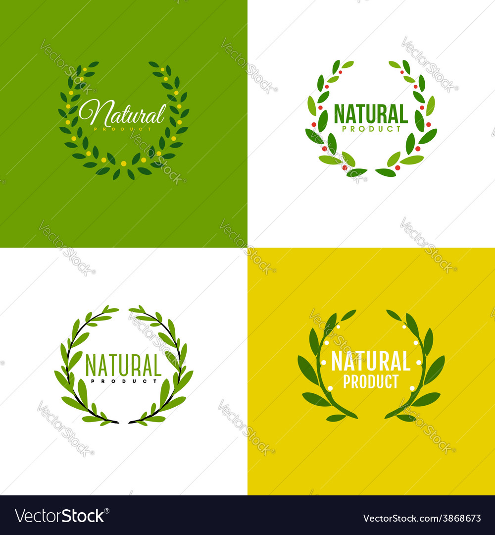 Wreath of branches with leaves vector