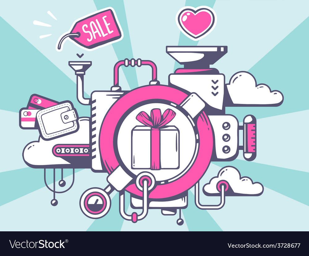 Mechanism to buy gift box and relevant ic vector