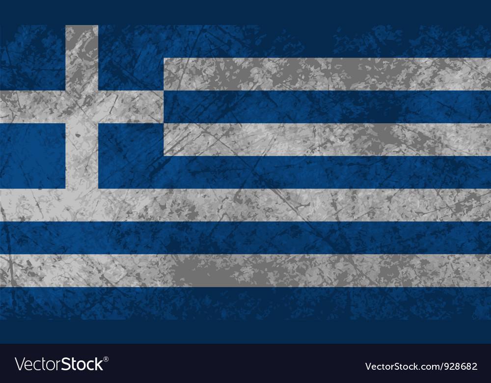 Greek flag grunge vector