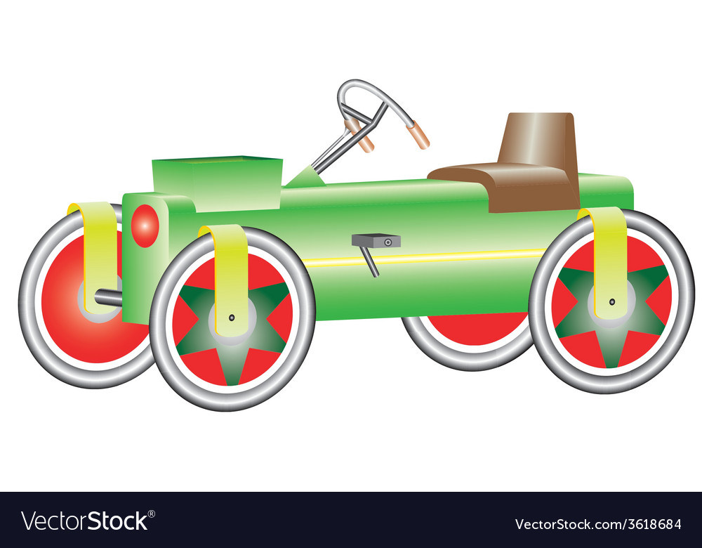Four wheel bicycle vector