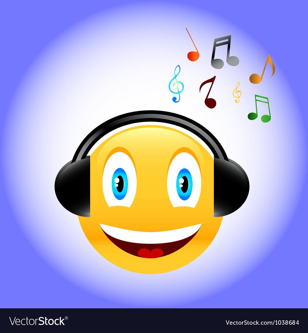 Music smile vector