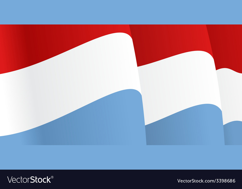 Background with waving luxembourg flag vector