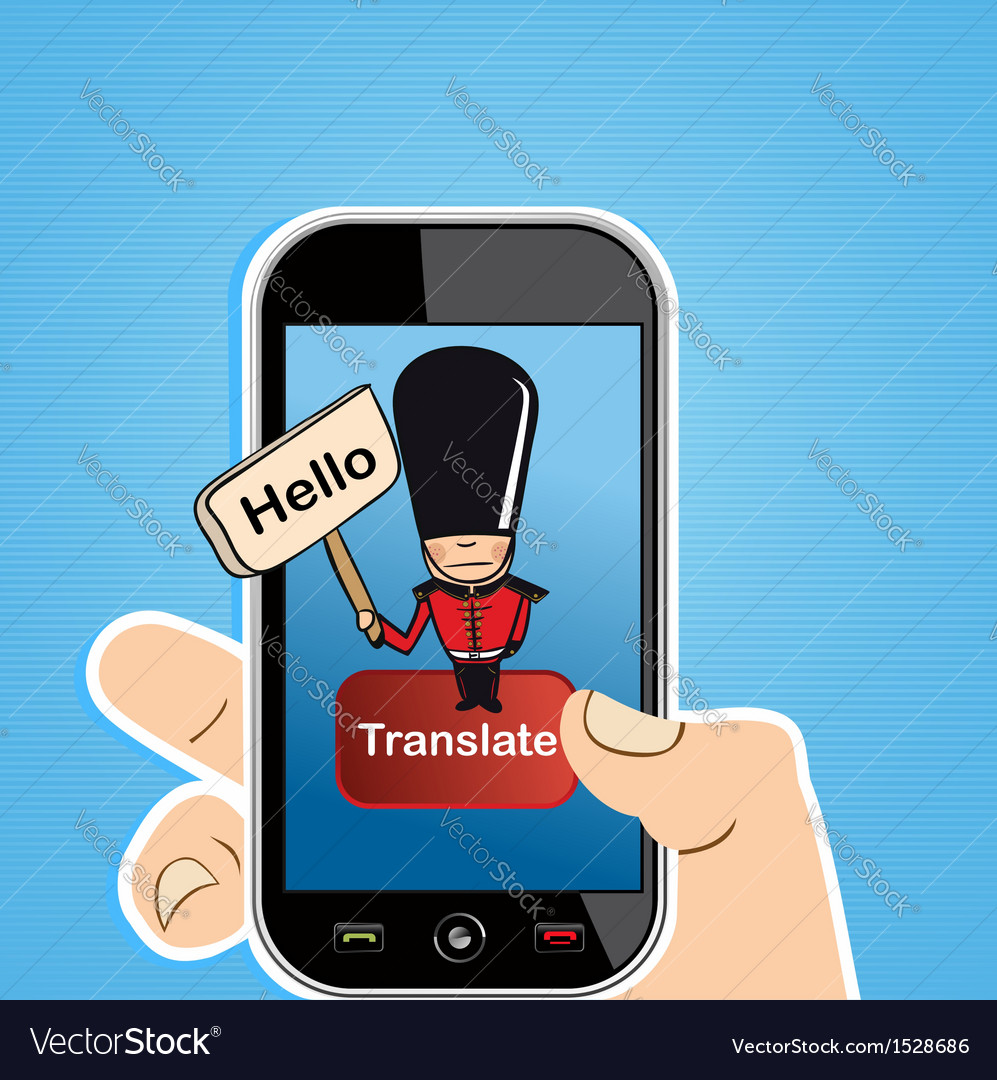 Smart phone translate concept vector