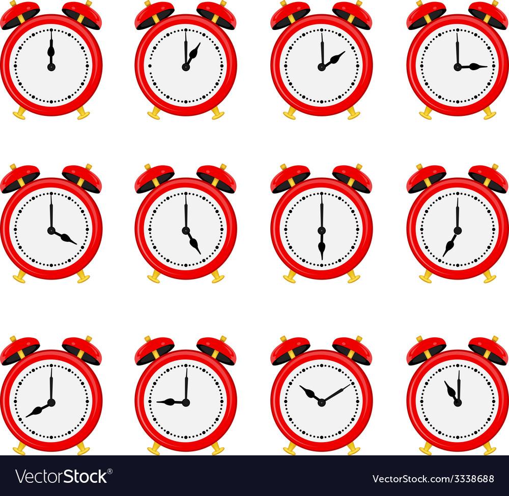 Alarm clock set vector