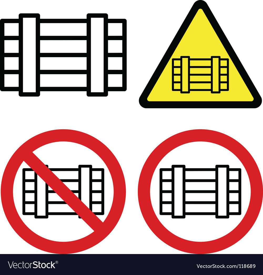 Luggage signs vector