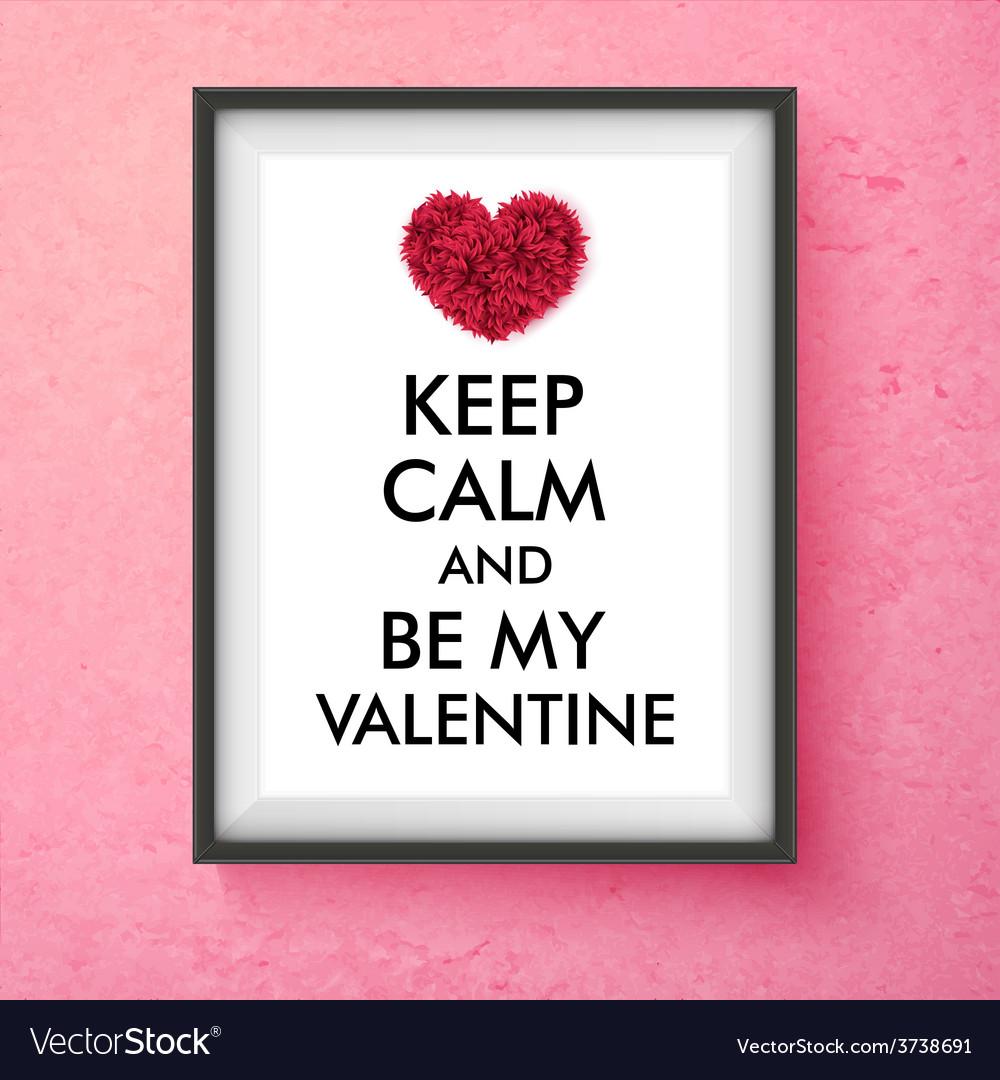Fun valentines day card design vector