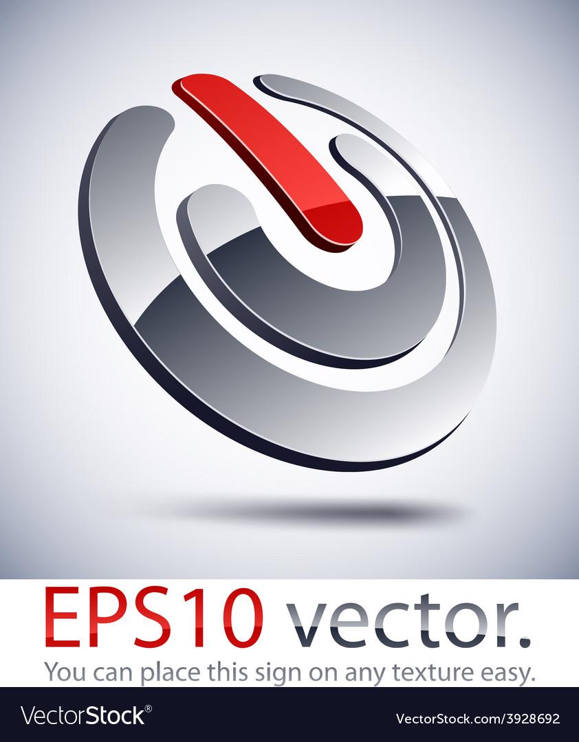 3d modern switch logo icon vector
