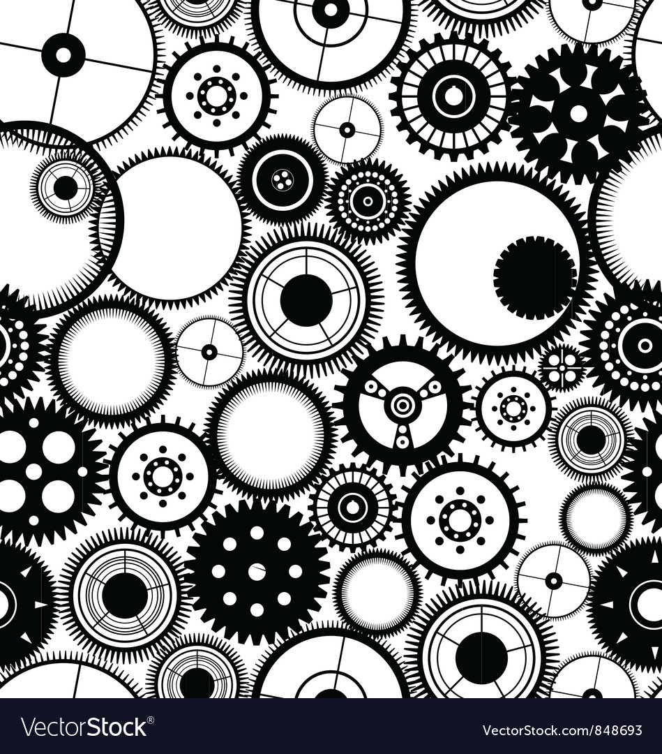 Gear seamless background vector
