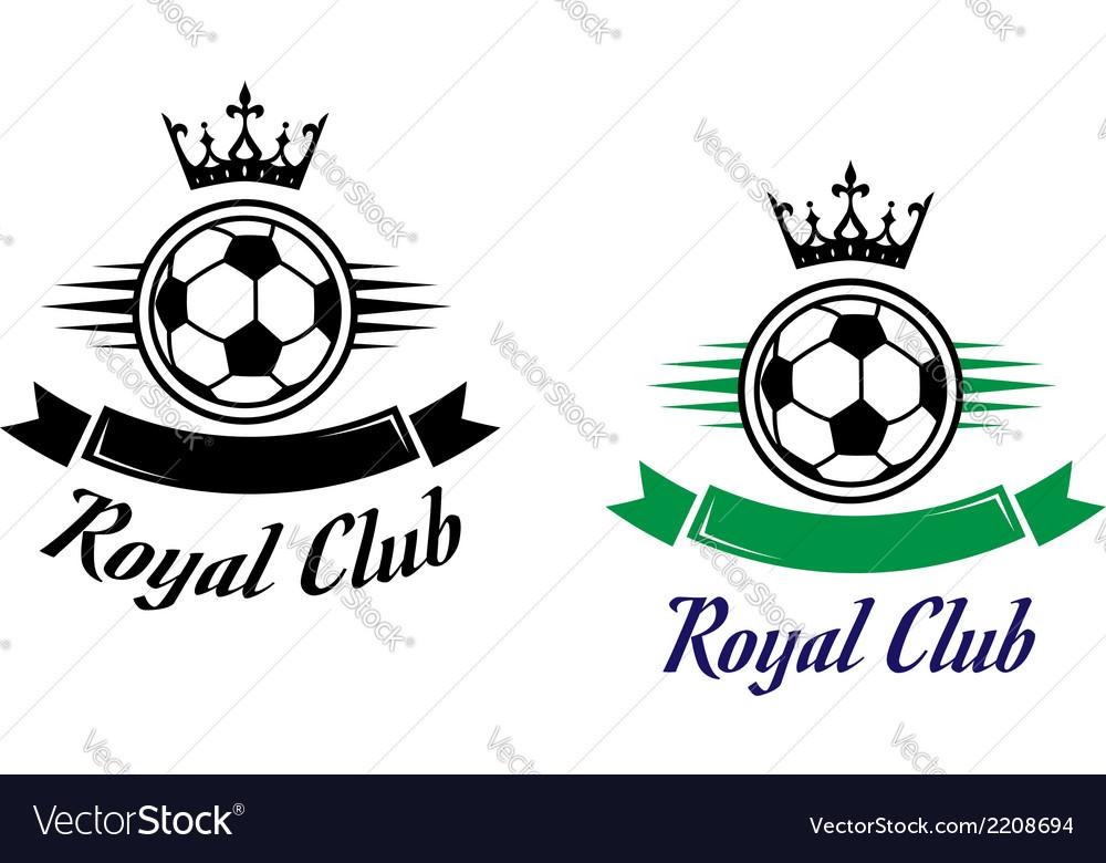 Royal football or soccer club symbol vector