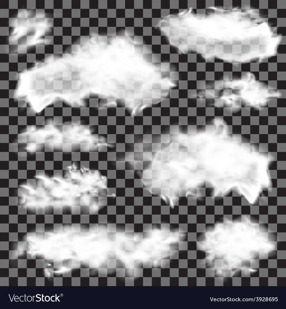 Realistic fluffy clouds vector