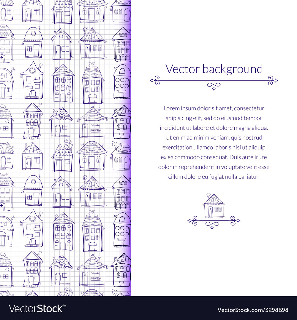 Outine houses vector