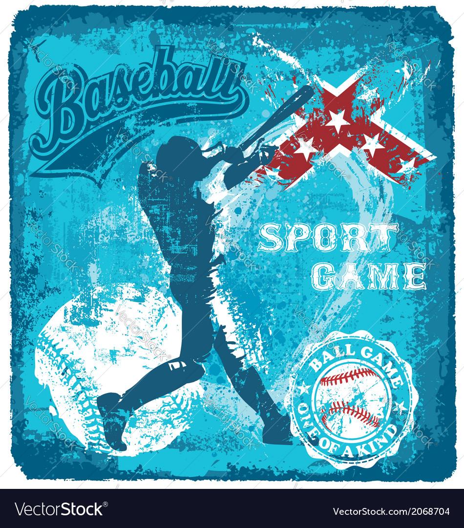 Baseball batter sport vector