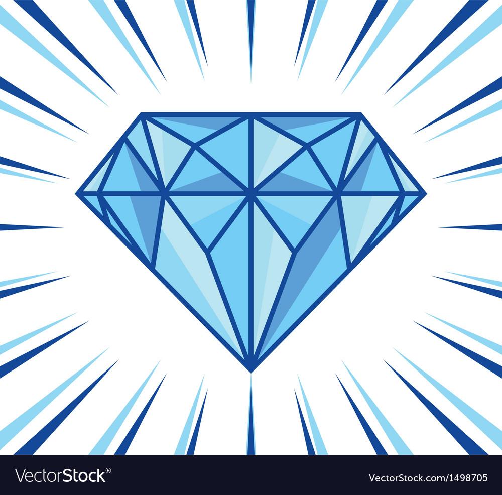 Diamond shine vector