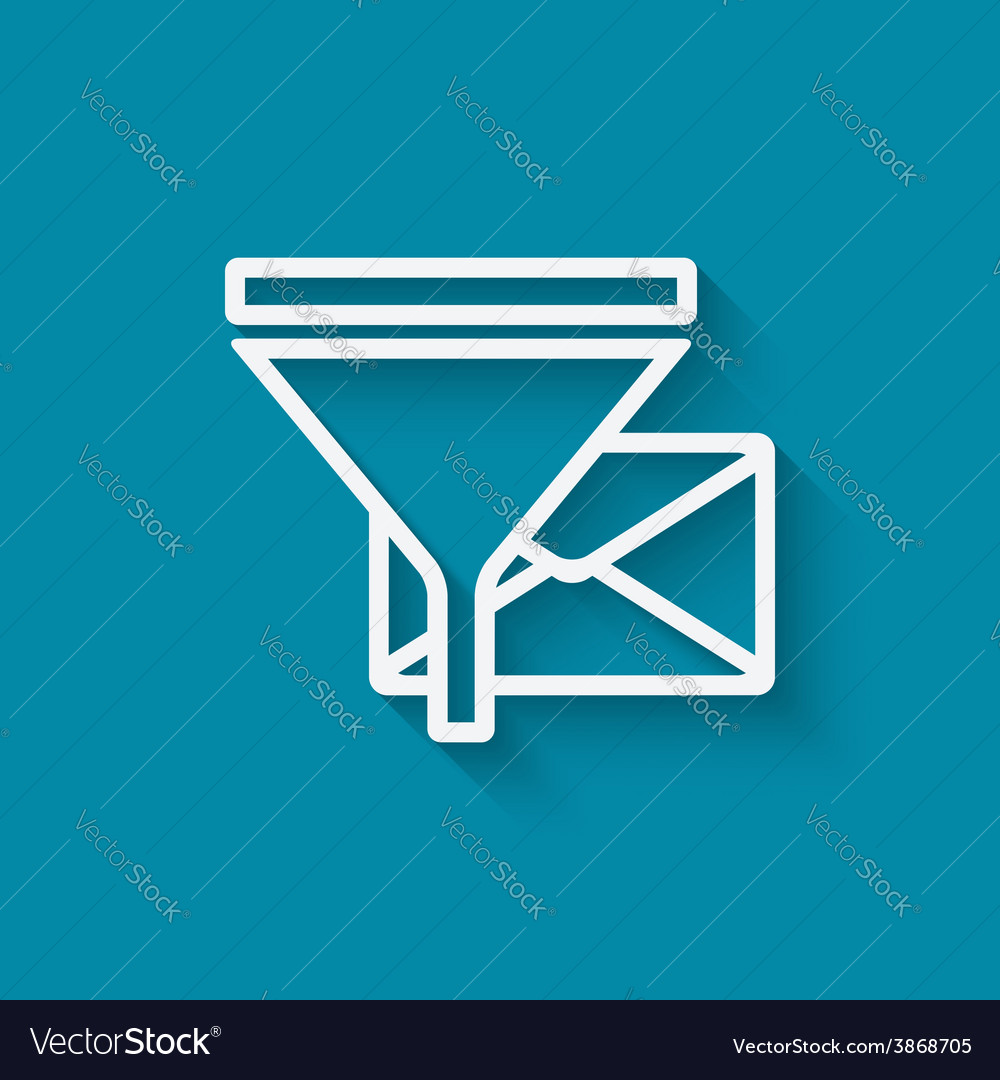 Spam filter concept symbol vector