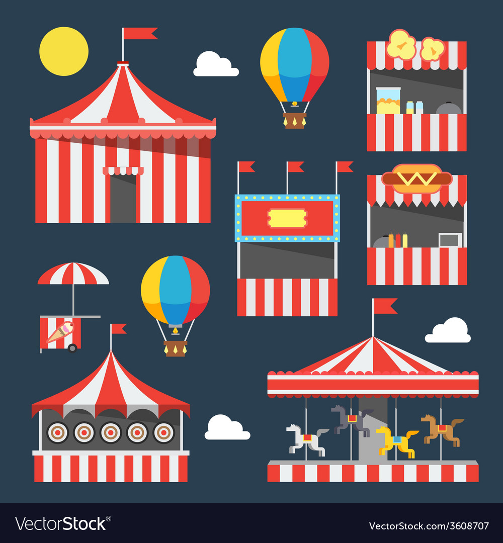 Flat design of carnival festival vector